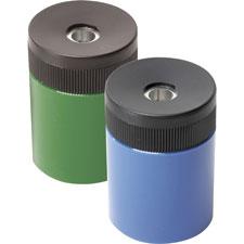 Cylinder pencil sharpener, metal, asst, sold as 1 each, 6 each per each