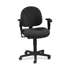 "Adjustable task chair, 24""x24""x33""-38"", gray, sold as 1 each"