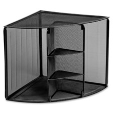 Rolodex Mesh Corner Shelf