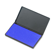 "Foam ink pad, 2-3/4"" x 4-1/4"", nontoxic, reinkable, blue, sold as 1 each"