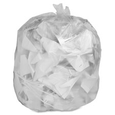 "Trash can liner, 7-10 gallon, .6mil, 24""x23"", 500/bx, clear, sold as 1 box"