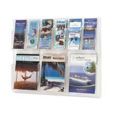 Safco 6-Pamphlet/3-Magazine Display Rack