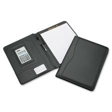 "Calculator portfolio, writing pad, 9-3/4""x3/4""x12-3/4"", bk, sold as 1 each"