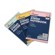 "Steno notebooks, 60 pages, gregg style, 6""x9"", 3/pk, ast, sold as 1 package, 30 each per package"