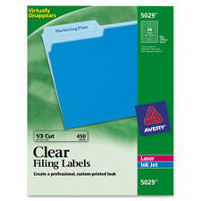 Avery Clear Top Tab Filing Labels