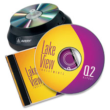 Avery Matte White Film DVD Labeling Systems