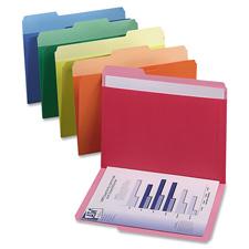Esselte 1/3 Cut Colored Pocket Folders