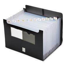 "Expanding file, w/ flap,13 pocket, ltr, 13""x1-1/8""x9-1/2"",bk, sold as 1 each"