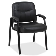 "Guest chair, 26""x28""x35-1/2"", black leather, sold as 1 each"