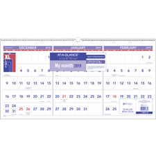 At-A-Glance 3-Month Horizontal Wall Calendar