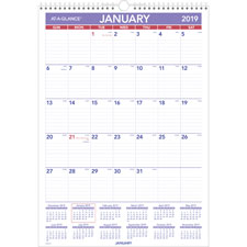At-A-Glance Laminated Monthly Wall Calendar