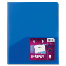Avery 2-Pocket Translucent Poly Folders