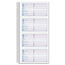"Petty cash book, 2 part, carbonless, 5""x11, sold as 1 each"