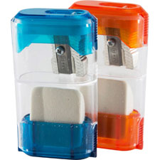 "Sharpener w/ eraser, 2-5/8"", 20/display box, assorted, sold as 1 each"