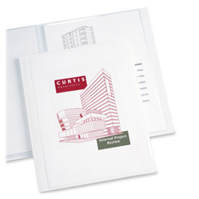 "Presentation book, 12 pockets, 8-1/2""x11"", white, sold as 1 each, 480 each per each"