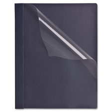 "Clear front report covers, 1/2"" capacity, 25/bx, dark blue, sold as 1 box, 25 each per box"