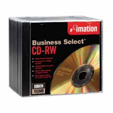 Imation Branded Business Select Gold CD-RW