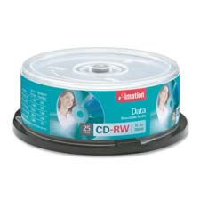 Imation Branded Silver CD-RW Spindle