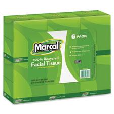 Marcal Premium Fluff-Out Cube Facial Tissue