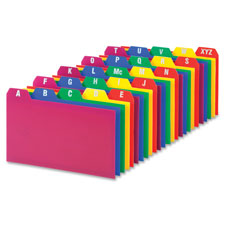 Esselte A-Z Poly Filing Index Cards