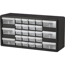 "Stackable cabinet,26 drawers,20""x6-3/8""x10-11/32"",black/gray, sold as 1 each"