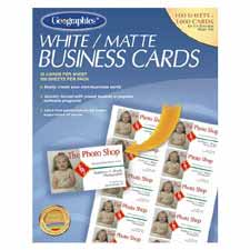 "Printable business cards,matte,3-1/2""x2"",1000/pk,white, sold as 1 package, 12 each per package"