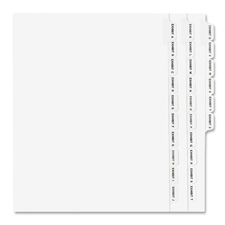 Avery Legal Exhibit Alphabetical Side Tab Dividers
