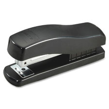 "Half strip stapler,rounded base,7-1/2""x1-3/4""x6-1/2"",bk, sold as 1 each"