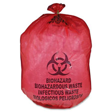 "Biohazard waste bag,30-33 gallon,31""x43"",50/bx,red, sold as 1 box, 50 each per box"