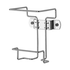 Wall container bracket, 1 qt. ,non-locking, chrome, sold as 1 each