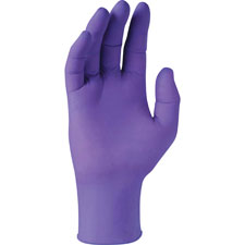 Powder-free exam gloves, non-latex, x-small, 100/bx, purple, sold as 1 box, 90 each per box