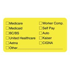 Tabbies Medical Office Insurance Labels