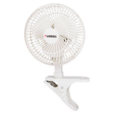 "6"" clip-on fan,2-speed,5' cord,8""x6""x9-1/2"",light gray, sold as 1 each"