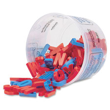 "Magnetic plastic letters,upper case,1-1/2"",108 ct.,blue/red, sold as 1 set"