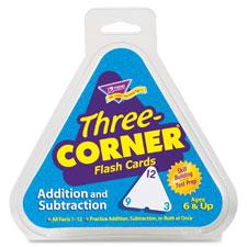 Trend Addition/Subtrac. Three Corner Flash Cards