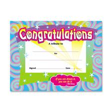 Trend Certificate of Congratulations