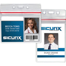 "Sealable id card holders,vertical,3-3/4""x2-5/8"",50/pk,cl, sold as 1 package, 50 each per package"