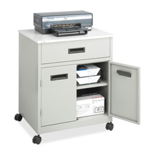 Safco Steel Mobile Machine Stand w/ Drawer