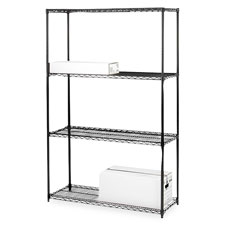 "SPR Product By Lorell - arter Shelving Unit 4 Shelves/4Pos 48""x18""x72"" BK at Sears.com"