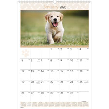 At-A-Glance Lg Puppies Monthly Wall Calendar