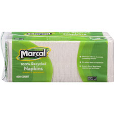 "Luncheon napkin, single-ply, 12-1/2""x11-1/4"", 2400/ct, white, sold as 1 carton, 48 roll per carton"