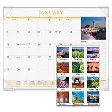 At-A-Glance Scenic Monthly Desk Pads
