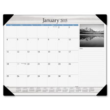 At-A-Glance Black & White Mnthly Calendar Desk Pad