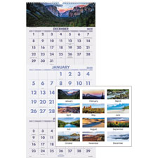 At-A-Glance Scenic Panoramic 3-Mth/Ppg Wall Calndr