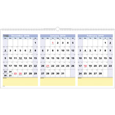 At-A-Glance 3 Mnth QuickNotes Horizontal Wall Cal.