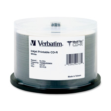 Verbatim Inkjet Printable Write-Once CD-Rs