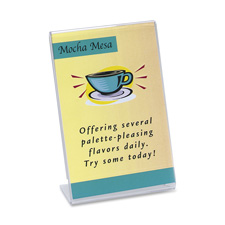 Deflect-O Slanted Sign Holder