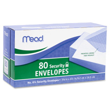 Mead White Security Envelopes