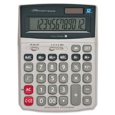 Compucessory 12-Dgt Dual Power Desktop Calculator