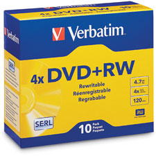 Verbatim DataLife Plus Branded DVD+RW Disc